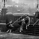 Girls in Rain by Andrew  Makowiecki