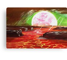 Fire Lake Canvas Print