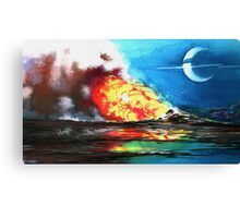 Space Landscape Canvas Print