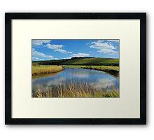 Sunken Fence Framed Print