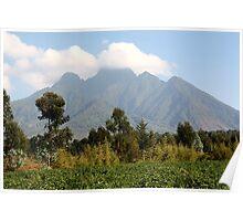 Mount Sabinyo, Kinigi, Volcanoes National Park Rwanda  Poster