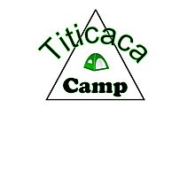 Titicaca camp ground funny campy trucker tee Photographic Print