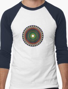 Trippy Mandala Men's Baseball ¾ T-Shirt