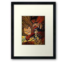 Wolverine vs Sabretooth  Framed Print