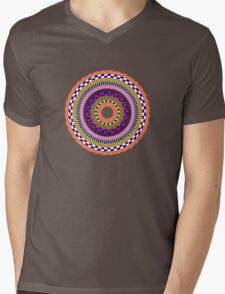 Funky Mandala Mens V-Neck T-Shirt