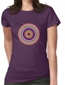 Funky Mandala Womens Fitted T-Shirt