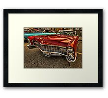 Long Red Caddy Framed Print