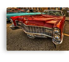 Long Red Caddy Canvas Print