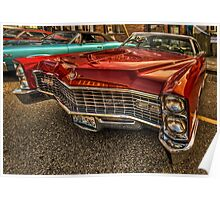 Long Red Caddy Poster