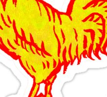 Golden Rooster Sticker