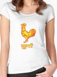 Golden Rooster Women's Fitted Scoop T-Shirt