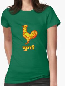 Golden Rooster Womens Fitted T-Shirt