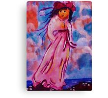 Pinky , watercolor Canvas Print