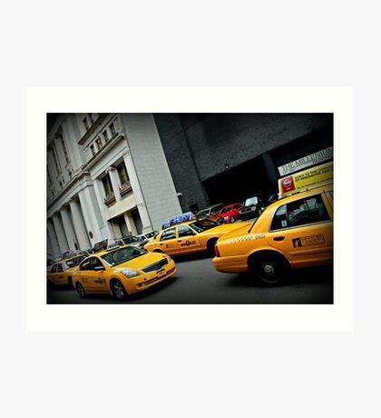 Taxi Taxi Art Print