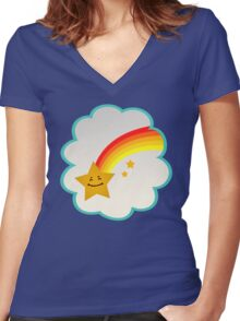 Wish Bear (high version) Women's Fitted V-Neck T-Shirt