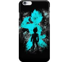 super saiyan blue vegeta grunge iPhone Case/Skin