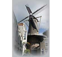 Mill 't Slot to the IJssel in Gouda. Photographic Print
