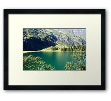 Austria, Tyrol, Hintersee Lake and Landscape Framed Print