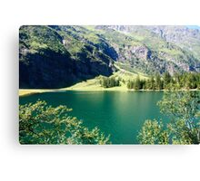 Austria, Tyrol, Hintersee Lake and Landscape Canvas Print