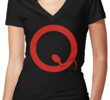 QOTSA LOGO Women's Fitted V-Neck T-Shirt