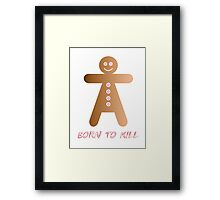 lady cookie humorous design Framed Print