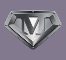 Steel Plated M Letter by adamcampen