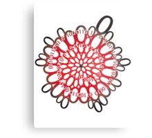 flowerpower red number flower design Metal Print