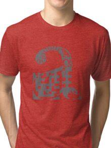 a alphabet symbol braille code design Tri-blend T-Shirt