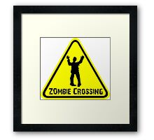 Zombies! Zombie Crossing Framed Print