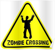 Zombies! Zombie Crossing Poster