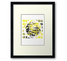 energy atom binary code design Framed Print