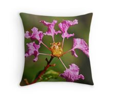 Crape Myrtle Blossoms Throw Pillow