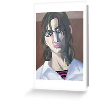 Portrait in Oil Greeting Card