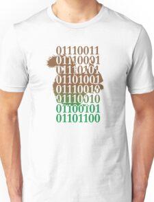 squirrel binary code nature animal design Unisex T-Shirt