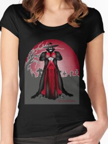 Dark Caped Mortuary Slasher T-shirt Women's Fitted Scoop T-Shirt
