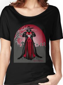 Dark Caped Mortuary Slasher T-shirt Women's Relaxed Fit T-Shirt