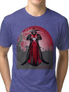 Dark Caped Mortuary Slasher T-shirt Tri-blend T-Shirt