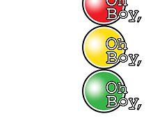 Oh Boy traffic light design by Veera Pfaffli