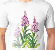 pink meadow flower fireweed design Unisex T-Shirt