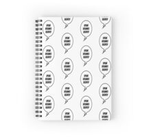 Speak Volumes Silently Spiral Notebook