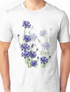 blue meadow cornflower design Unisex T-Shirt