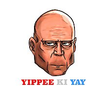 YIPPEE KI YAY- BRUCE WILLIS DIE HARD- (Specially Detailed) Photographic Print