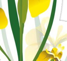yellow iris flower design Sticker