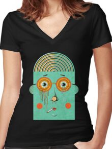 Brainy Women's Fitted V-Neck T-Shirt