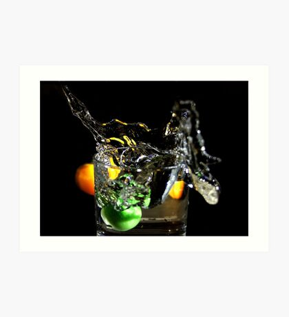 a splash in the glass  Art Print