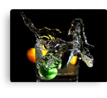 a splash in the glass  Canvas Print