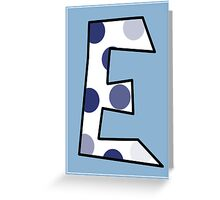 E Greeting Card