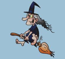 Witch on a broom Kids Tee