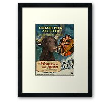 Curly Coated Retriever Art - The World in his Arms Movie Poster Framed Print