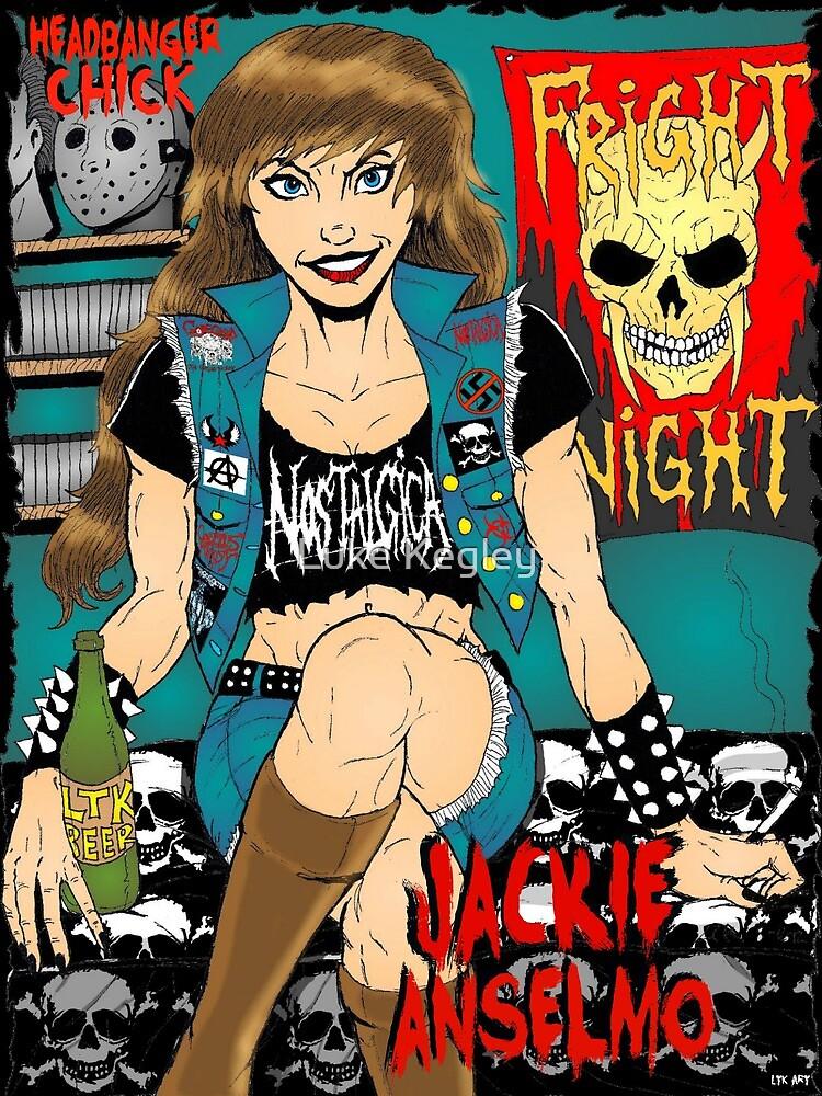 Jackie Anselmo - Headbanger Chick by MetalheadMerch